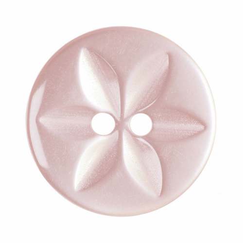 Pale Pink Star Button, 16mm (5/8in) Diameter (Sold Individually)