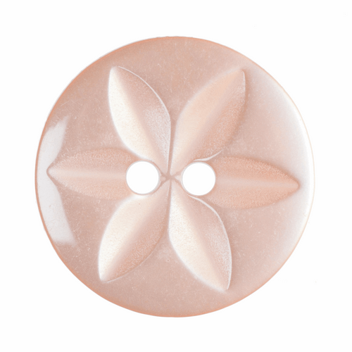 Peach Star Button, 16mm (5/8in) Diameter (Sold Individually)
