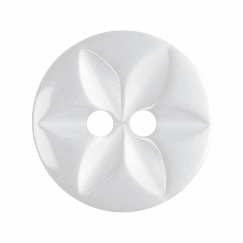 White Star Button, 16mm (5/8in) Diameter (Sold Individually)