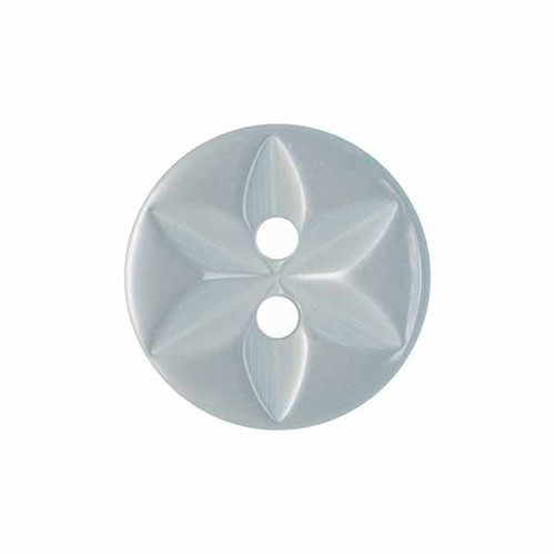 Ice Blue Star Button, 16mm (5/8in) Diameter (Sold Individually)