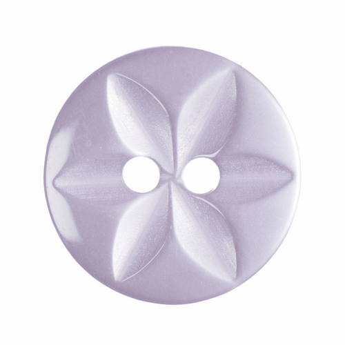 Lilac Star Button, 16mm (5/8in) Diameter (Sold Individually)