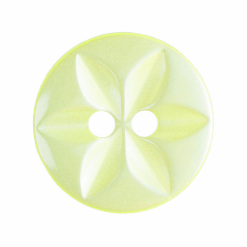 Yellow Star Button, 16mm (5/8in) Diameter (Sold Individually)