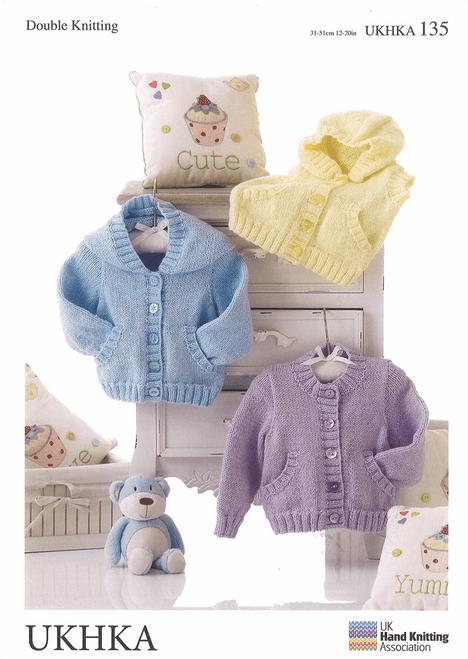 UKHKA 135 -Double Knitting: Jackets and Waistcoat