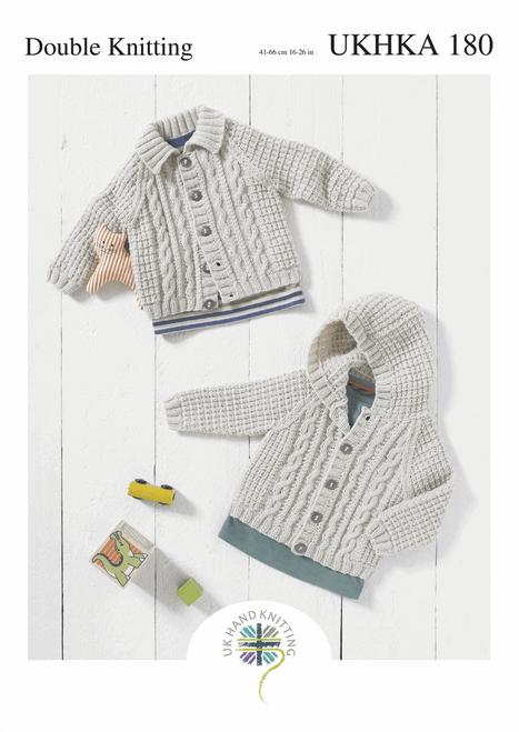 UKHKA 180 - Double Knitting Cardigans