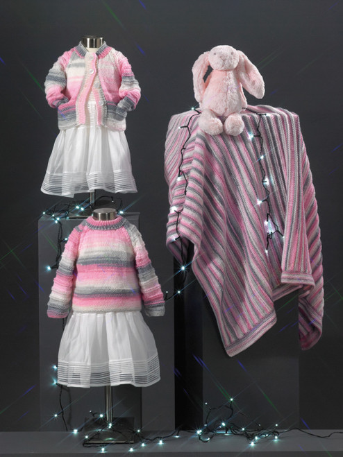 JB706 - Cardigan, Sweater & Blanket