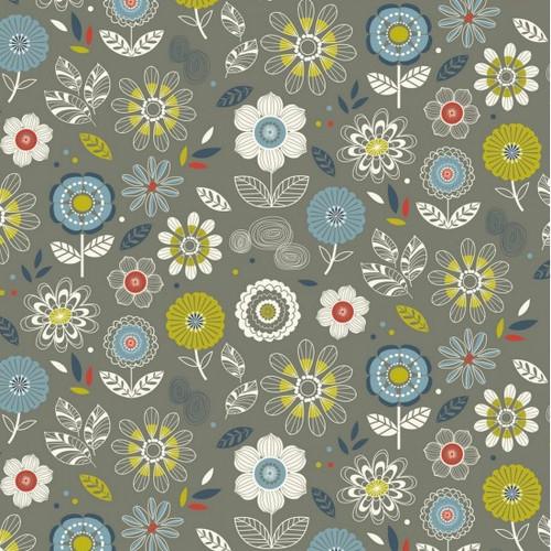 Enchanted Garden - Flowers 100% Cotton 112cm/44in wide, Sold Per Half Metre