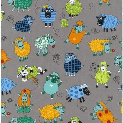 Farm Fun - Sheep 100% Cotton 112cm/44in wide, Sold Per Half Metre