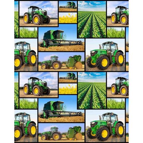 Farm Machines - 100% Cotton 112cm/44in wide, Sold Per Half Metre