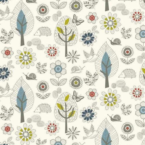 Enchanted Garden - Scenic 100% Cotton 112cm/44in wide, Sold Per Half Metre