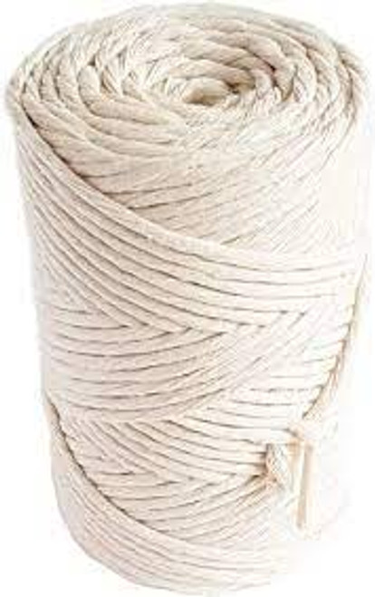 Macramé Cord, 5mm x 100m Natural Cotton Macramé Rope for Plant Wall Hangings DIY Crafts Beige -