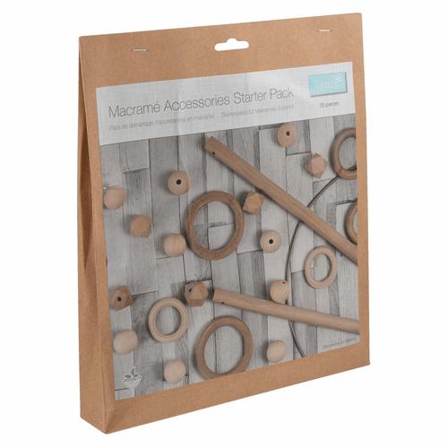 Macramé Accessories Starter Pack: 39 Pieces