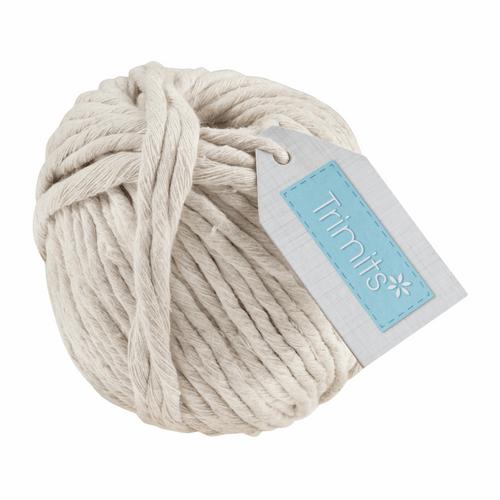 Cotton Macramé Cord Natural - 50m x 4mm