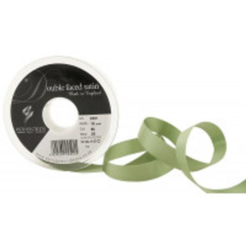 15mm 80 Khaki Double Satin Berisfords Ribbon ( Sold per Metre)