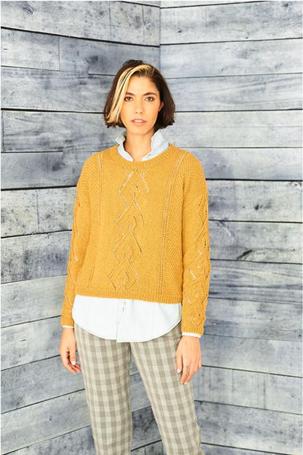 9861 Recreate - Ladies Lace Sweaters Dk - 32/34 -48/50 in