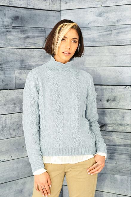 9859 Recreate - Ladies Round & Funnel Neck Sweaters Dk -