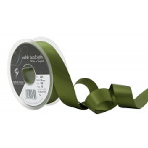25mm 80 Khaki Double Satin Berisfords Ribbon ( Sold per Metre)