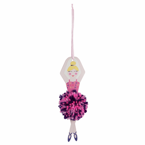 Pom Pom Decoration Kit - Christmas Sugar Plum Fairy