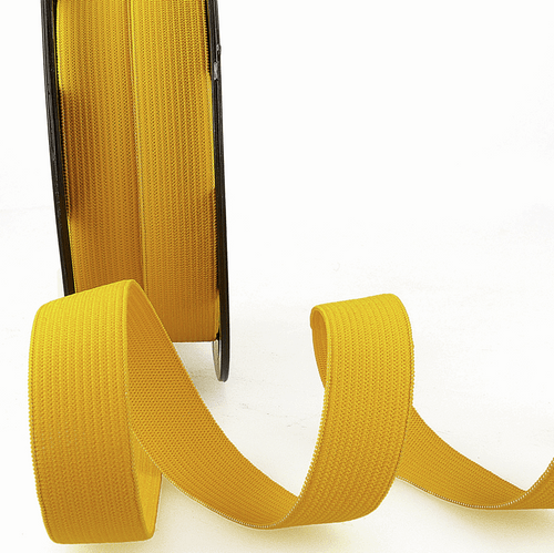 Elastic - 25mm in Golden Yellow (sold by the metre)