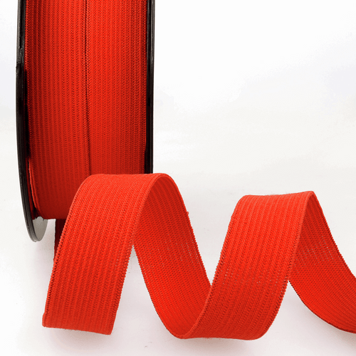 Elastic - 25mm in Red (sold by the metre)