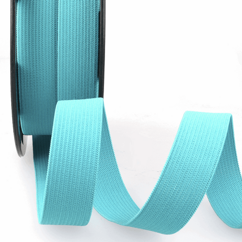 Elastic - 25mm in Turquoise (sold by the metre)