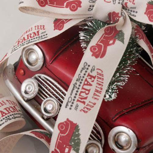 Classic Christmas Tree Farm Ribbon - ( Sold by the Metre)