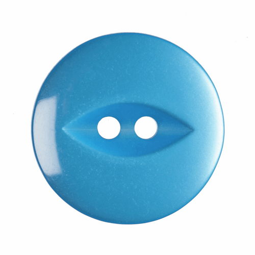 Bright Blue Fish Eye Button - available in 4 sizes (Sold Individually)