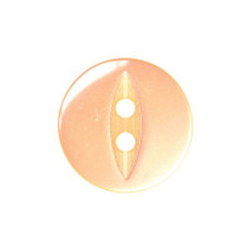Peach Fisheye Baby Buttons - Available in 4 sizes ( Sold Individually)