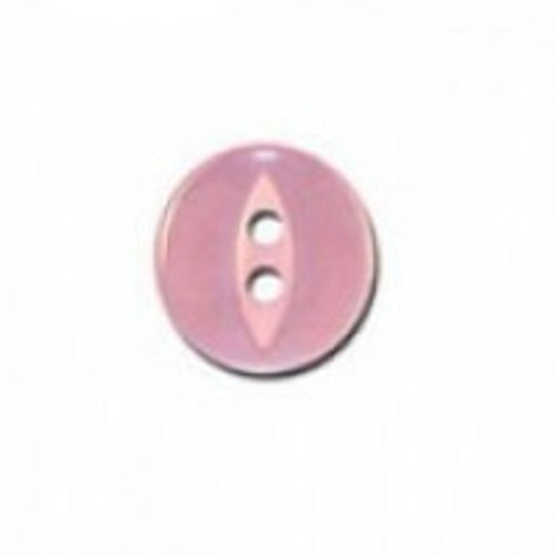 Coral Pink Fisheye Baby Buttons - Available in 4 Sizes (Sold Individually)