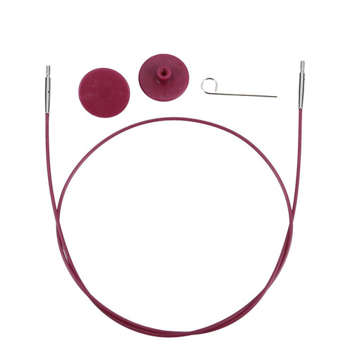 Knit Pro - Circular interchangeable (Purple ) Cable -20cm To Make 40 cm Interchangeable needle