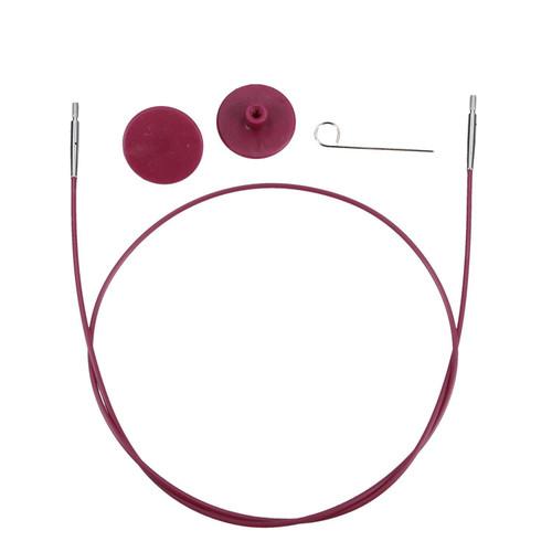 "Knit Pro - Circular interchangeable (Purple ) Cable -28 cm To Make 50cm Interchangeable needle"""