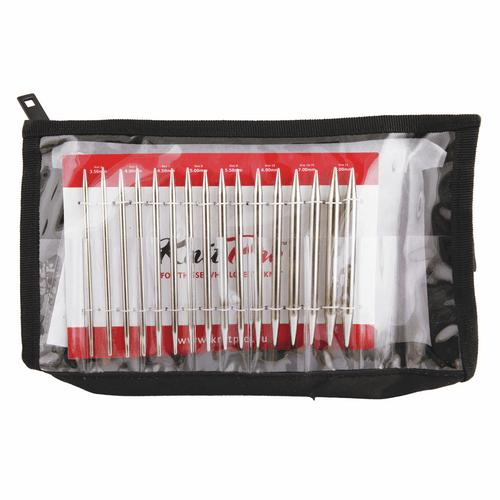 Knit Pro - Nova Metal Knitting Circular Interchangeable Pins - Deluxe Set