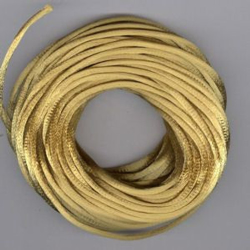 Antique Gold Rats Tail Satin Cord, 2.5mm thick, Sold Per Metre