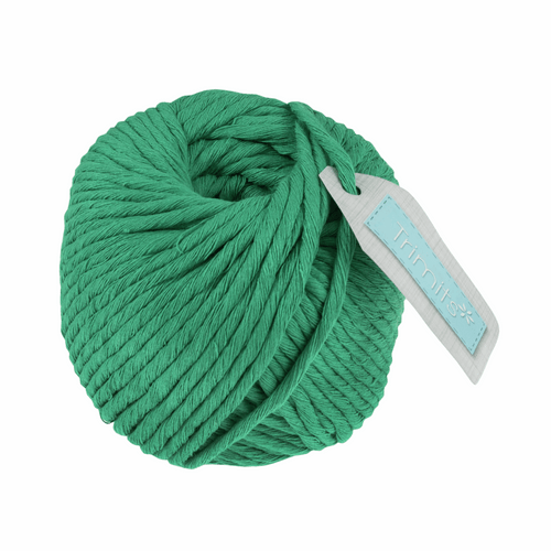 Cotton Macramé Cord - 50m x 4mm - Emerald