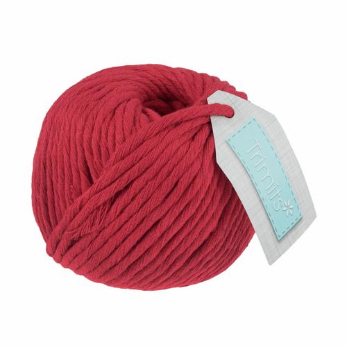 Cotton Macramé Cord - 50m x 4mm - Red