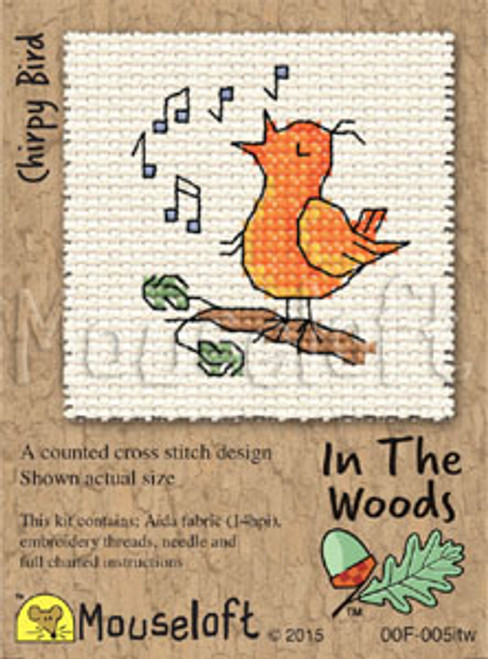 Chirpy Bird In the Woods Small Cross Stitch Kit