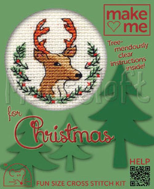 Christmas Stag Make Me For Christmas Small Cross Stitch Kit