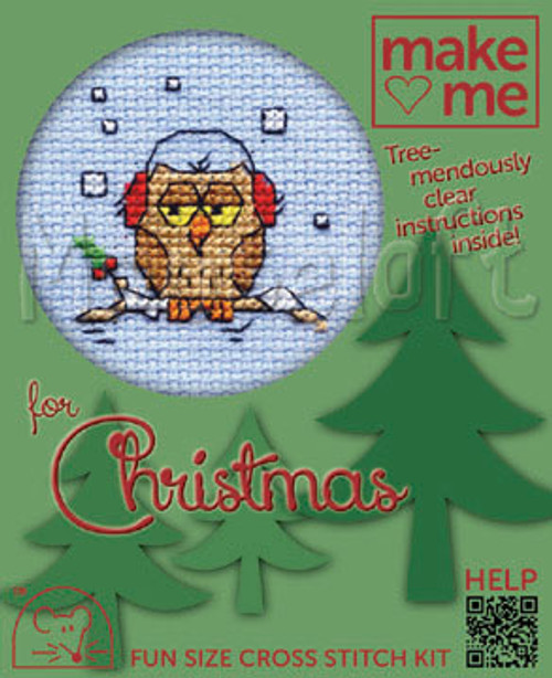 Cosy Owl Me For Christmas Small Cross Stitch Kit