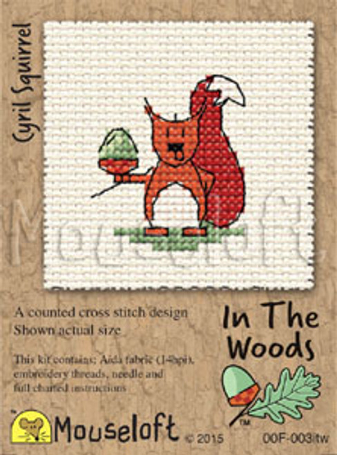 Cyril Squirrel in the Woods Small Cross Stitch Kit