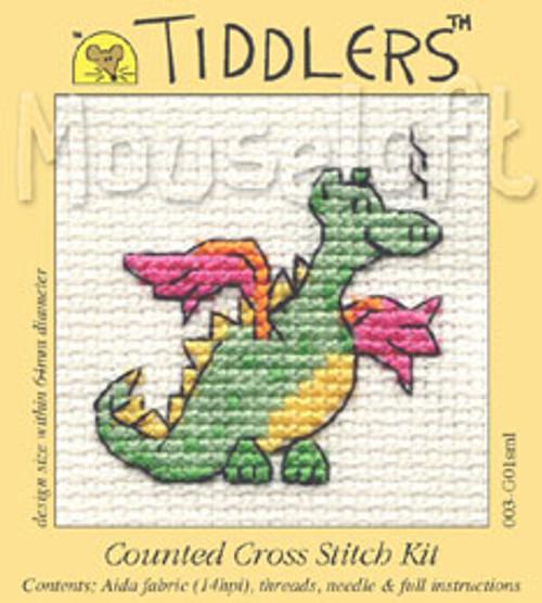 Green Dragon Tiddlers Cross Stitch Kit