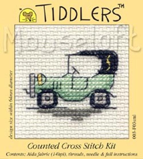 Green Vintage Car Tiddlers Cross Stitch Kit