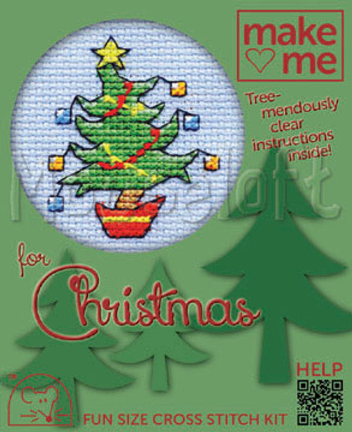 Happy Tree Make Me for Christmas Small Cross Stitch Kit