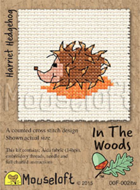 Harriet Hedgehog in the Woods Small Cross Stitch Kit