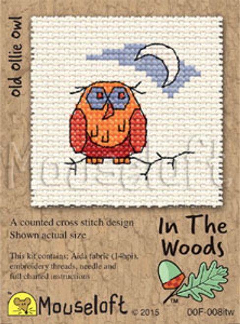 Old Ollie Owl in The Woods Small Cross Stitch Kit
