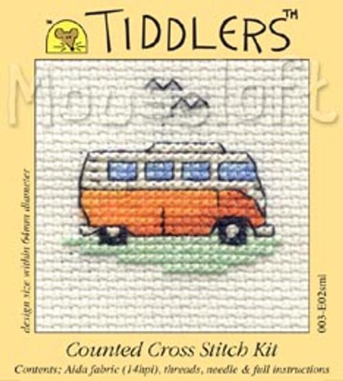 Orange Camper Van Tiddlers Cross Stitch Kit
