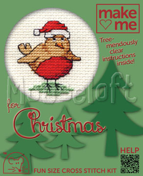 Robin Make Me For Christmas Small Cross Stitch Kit