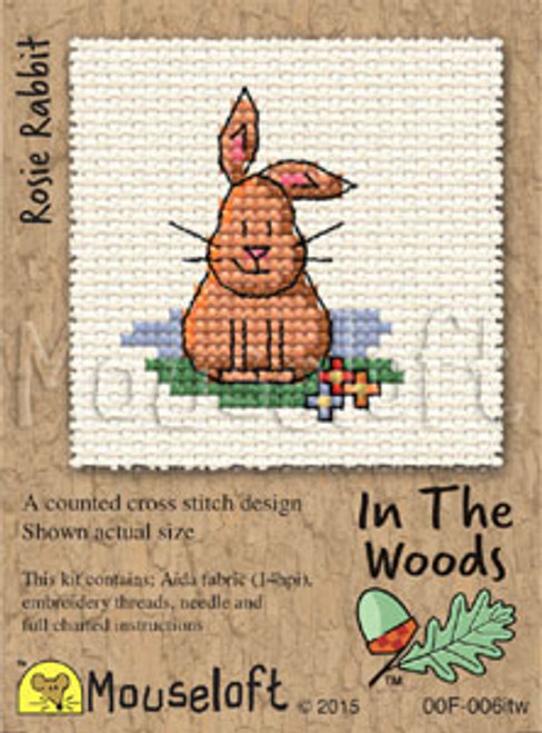 Rosie Rabbit in the Woods Small Cross Stitch Kit