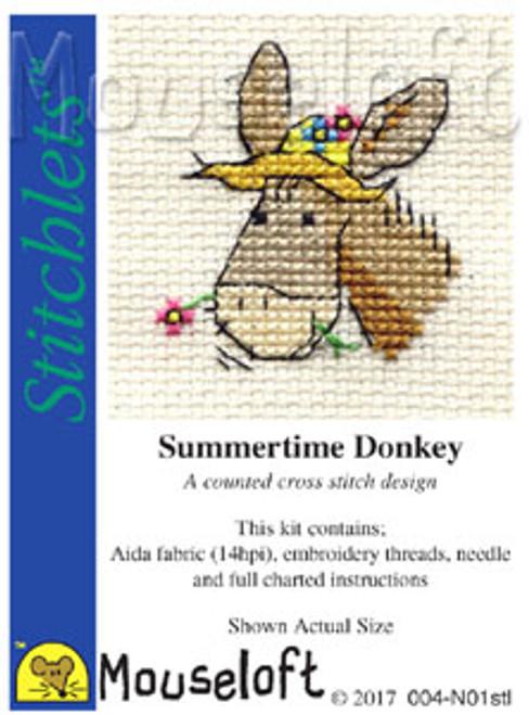 Summertime Donkey Stitchlets Small Cross Stitch Kit