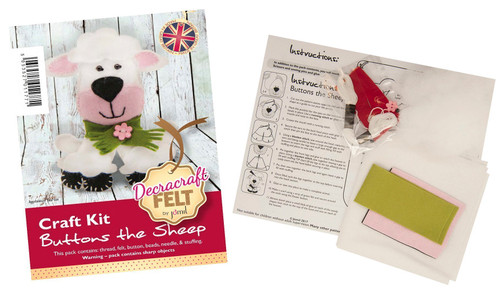 Buttons The Sheep Felt Kit