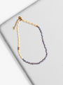 Mandy Adjustable Blue And White Beaded Pearl Choker Necklace | Mojo Supply Co