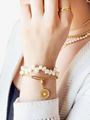 Gold Stainless Steel Custom Paperclip Bracelet, 2 Styles